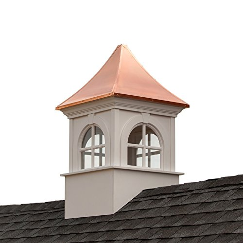 Good Directions Smithsonian Fairfax Vinyl Cupola with Copper Roof, 36