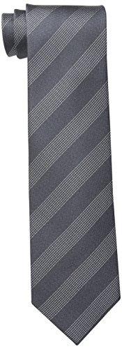 olferino Stripe Tie, Charcoal, One Size (Gray Stripe Tie)