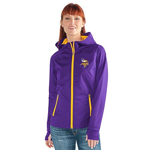 Minnesota Vikings Nfl Light - GIII For Her NFL Minnesota Vikings Women's Onside Kick Light Weight Full Zip Jacket, XX-Large, Purple