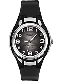 Kids Analog Watch,Girls Boys Waterproof Learning Time...