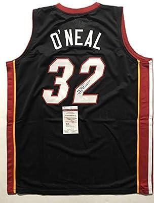 b6c33b0e02d Autographed/Signed Shaquille Shaq O'Neal Miami Black Basketball Jersey JSA  COA. Autographed/Signed Shaquille Shaq O'Neal Miami Black Basketball Jersey  JSA ...
