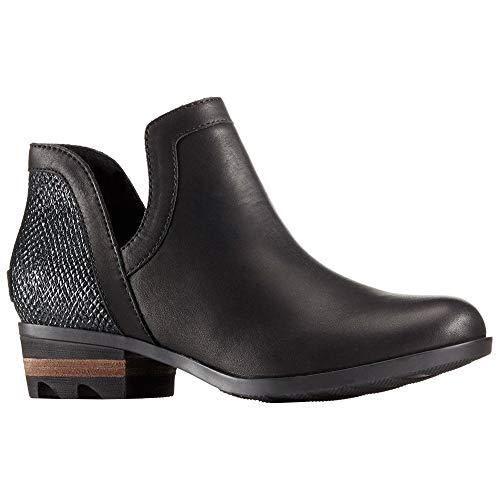(Sorel Women's Leather Lolla Cut-Out Bootie - Black (7 B(M) US))