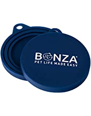 Bonza Pet Food Can Covers, Set of 2 Universal Silicone Can Covers for Pet Food Cans, Food Safe BPA Free, Dishwasher Safe. Loose Fit Lids Easy to Place On and Remove.