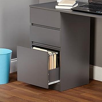 Simple Living Como Modern Writing Desk Grey White