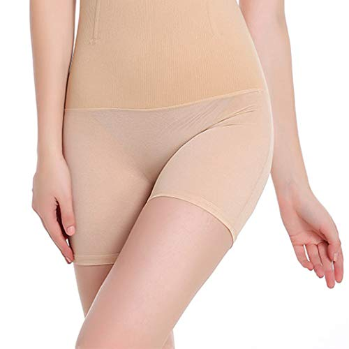 AmyDong Womens High Waisted Body Shaping Corsets Compression Tummy Control Compression Shorts Beige