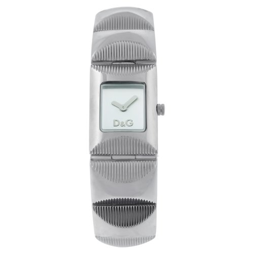 D&G Dolce & Gabbana Women's DW0322 Stainless Steel Analog with White Dial Watch