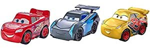 Disney/Pixar Mini Racers Cars 3 Series Metal Vehicles, 3 Pack (FPT71)