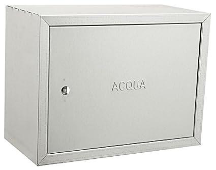 Caja galvanizada de acero inoxidable para contadores de agua – Distintos tamaños, acero galvanizado.