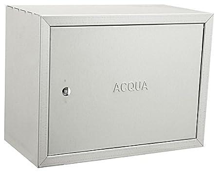 Caja galvanizada de acero inoxidable para contadores de agua –  Distintos tamañ os, acero galvanizado. UTIL.FER