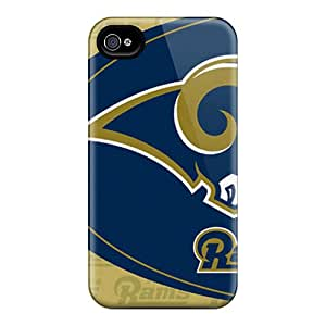 Bumper Hard Phone Cases For Iphone 4/4s With Customized Stylish St. Louis Rams Series JohnPrimeauMaurice