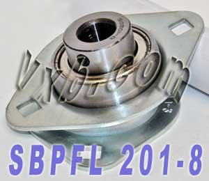 SBPFL201-8 Pressed Steel Housing Unit 2-Bolt Flanges Ball Bearings