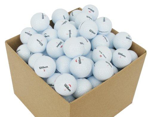 Second Chance Golf Lakebälle Wilson 100 Premium Grade A, weiß, VAL-100-BOX-WIL