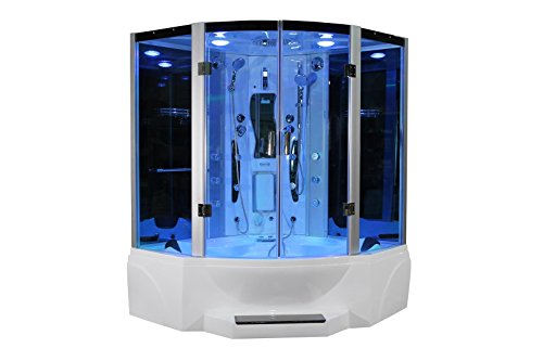 Neo Angle Shower Unit - Pivot Door Steam Shower Enclosure Unit