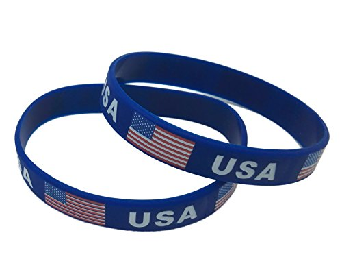 (Forest Country Flag Unisex Silicone Bracelet Rubber Sports Fashion Wristband (USA))