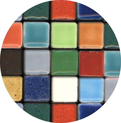 Mosaic-Minis(25/64 inch) (10x10x3mm), 250 Pieces, Random Mix All, MXAL