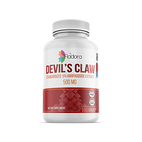 - Devil's Claw Root Extract 500mg with 5% Harpagoside Extract 100 Vegetarian Capsules by Fladora, Natural Pain Relief Supplement, Non-GMO, Gluten Free