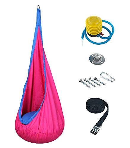 Harkla Hanging Sensory Swing for Kids - Includes Hardware - Pod Swing Great as a Therapy Swing for Autism ()