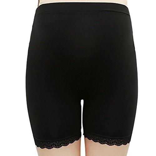 Nero Premaman Ventre Pantaloni Shorts Grigio Briefs 2pc Donna Lace Elastico Maternità Leggings Hzjundasi Banda E7q1n0