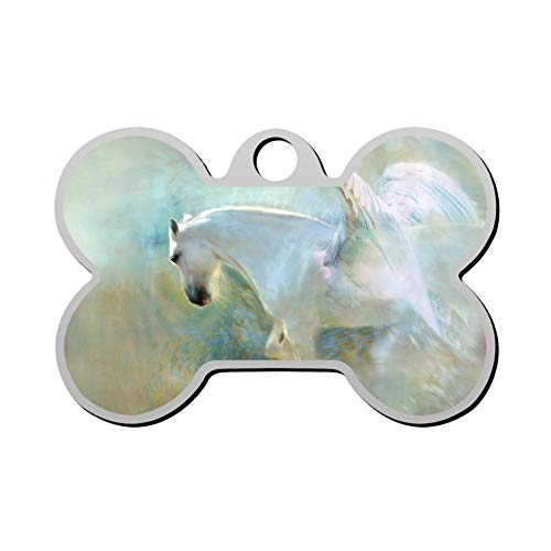 GPZHM Customized Pegasus Pet Tag - Bone Shaped Dog Tag & Cat Tags Pet ID Tag Personalized Custom Your Pet's Name & Number 3D Printing ()