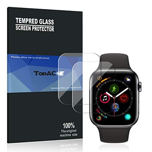 Apple Watch Series 4 40mm Screen Protector, TopACE 9H Hardness Full Coverage Bubble Free Tempered Glass 0.3mm Film for Apple Watch Series 4 40mm (Clear)