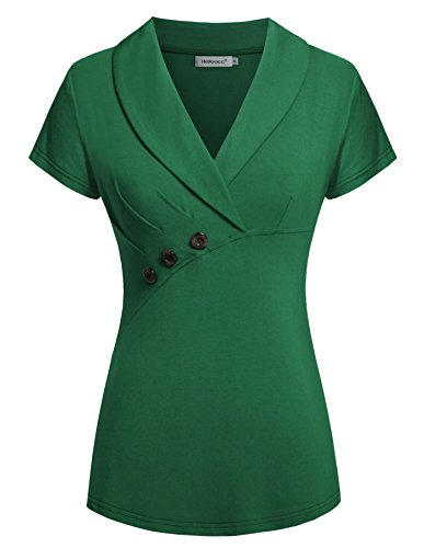 Helloacc Womans Office Blouses Sleeves