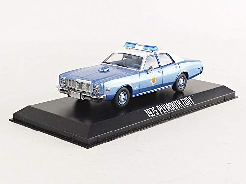 1975 Plymouth Fury Arkansas State Police Smokey and The Bandit (1977) Movie Blue with White Top 1/43 Diecast Model Car by Greenlight 86536 ()