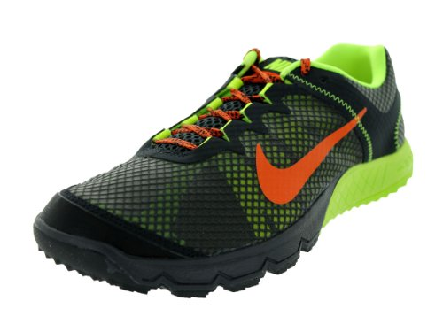 Nike Zoom Wildhorse Mens Trail Löparskor Mörk Kol / Urban Orange / Vlt