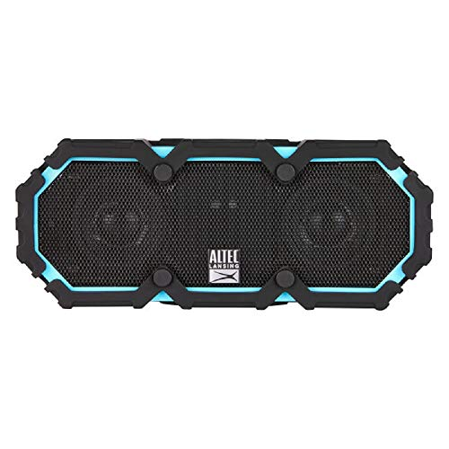 Altec Lansing IMW577-AB Lifejacket 2 Bluetooth Speaker, IP67 Waterproof, Shockproof, Snowproof, Everything-Proof Rating, 30-Foot Range, 16 Hours Of Battery Life, Aqua Blue