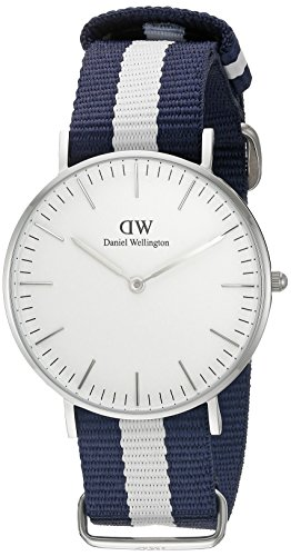 Daniel-Wellington-0602DW-Reloj-con-correa-de-acero-para-mujer-color-blanco-gris