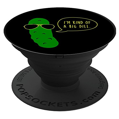 Big Dill Pickle PopSockets Stand for Smartphones and Tablets by Triple G Mavs
