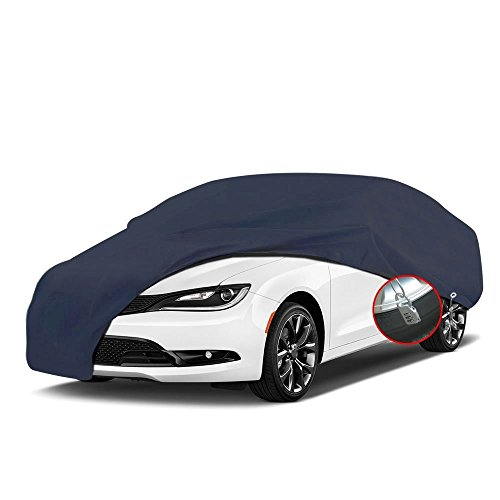 All Weather Proof Universal Fit Car Cover with Lock Full Breathable UV Dust Waterproof Sun Snow Heat Resistant Outdoor Protector (Fits Cars up to 188 inches,PEVA,Dark - Wayfarer Cover
