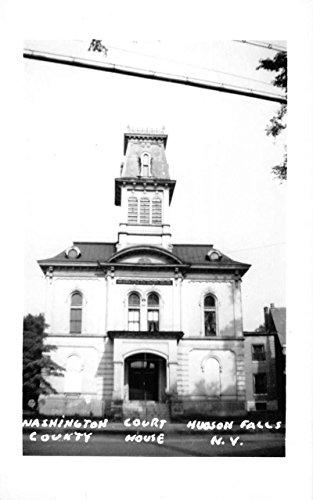 Hudson Falls New York Court House Real Photo Antique Postcard K60975