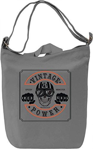 Wintage power Borsa Giornaliera Canvas Canvas Day Bag| 100% Premium Cotton Canvas| DTG Printing|