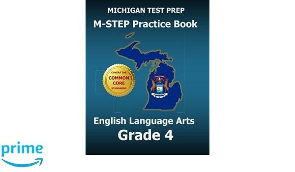 MICHIGAN TEST PREP M-STEP Practice Book English Language Arts ...