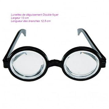 Lunettes de déguisement Double foyer, Verres transparent Effet Intello,  Largeur 13cm, Longueur 12 20b46bfea904