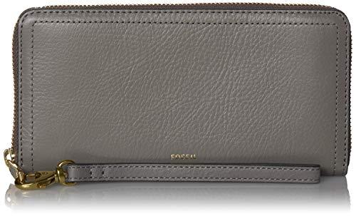 Fossil Women's Logan Leather RFID-Blocking Zip Around Clutch Wallet with Wristlet Strap 1