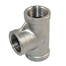 """SuperWhole 1/2"""" Tee 3 way Female Stainless Steel 304 Threaded Pipe Fitting NPT NEW"""