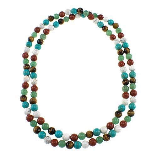 Multi-gemstone Endless Fashion Necklace  - 36