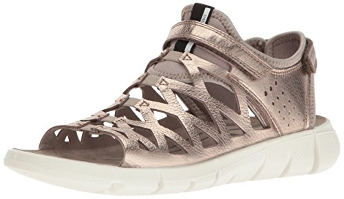 Ecco Intrinsic Sandal, Sandales Bout Ouvert Femme Or (57462Warm Grey Metallic/Moon Rock)