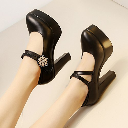 Cheongsam High Heel Size Black cm Thick Waterproof Model heels Jqdyl Large Shoes Spring High 11 Female Heel Platform wtqdx0xS