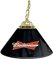 Trademark Games AB1200-BUD Budweiser 14-Inch Single Shade Bar Lamp, Black