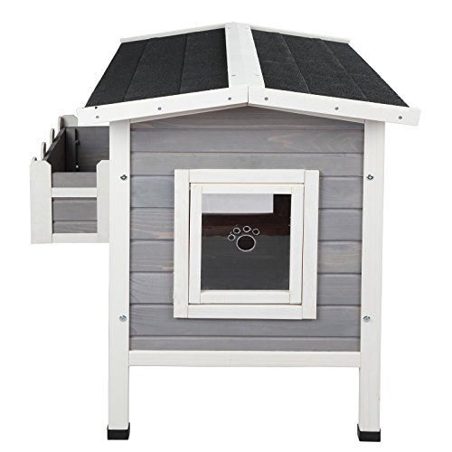 Petsfit Outdoor Cat Shelter Large Cat House Condo With