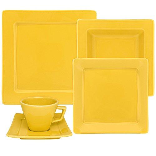 Oxford Nara Yellow 20 Piece Porcelain Dinnerware Set