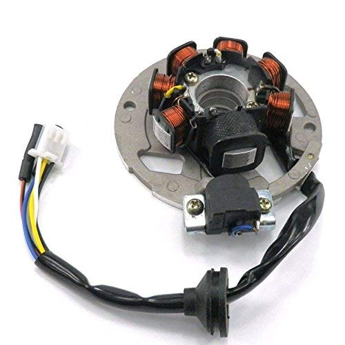 Chanoc 5 Wires Magneto Stator for 2 Stroke 50cc 90cc 1PE40QMB JOG Minarelli Scooter ATV Moped
