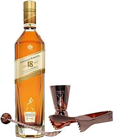 Johnnie Walker Aged - Set de 18 años con Cubiertos para Barra, Whisky Blended Whisky Scotch, Alcohol, Botella de 40%, 700 ml