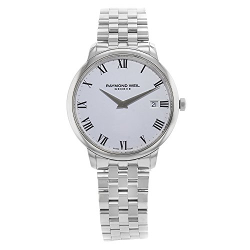 Raymond Weil White Bracelet - Raymond Weil ' Toccata' Swiss Quartz Stainless Steel Casual Watch, Color:Silver-Toned (Model: 5588-ST-00300)