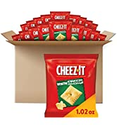 Cheez-It Baked Snack Cheese Crackers, White Cheddar, School Lunch Snacks, 1.02 oz Bag (40 Bags)