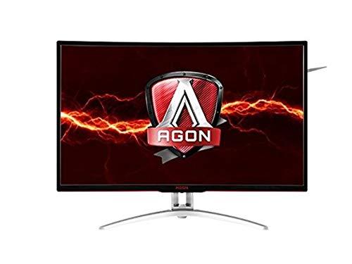 "AOC Agon AG322QCX 31.5"" Curved Frameless Gaming Monitor, QHD 2560x1440 VA Panel, FreeSync, 144Hz, 4ms, VESA (Renewed)"