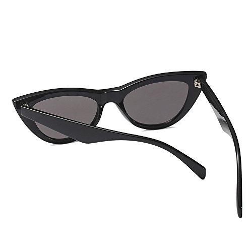 Sexy de de Negro Sol de Gafas de Gato Espalda Ojo de Gato Leopardo Lady TL en Verano Playas Mujeres Las Ojo Gafas para Las Las Sunglasses Mujeres WwnzZE6