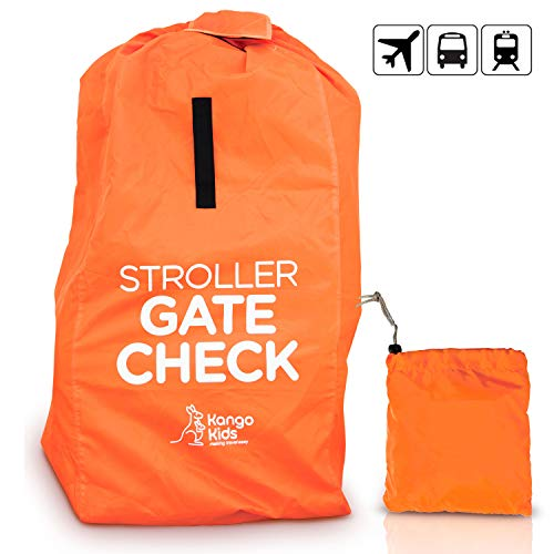 "KangoKids Stroller Travel Bag -protect Strollers from Dirt and Damage. Easy to Carry Stroller Bag for Airplane. Gate Check Bag will ONLY fit H40 W18 D 10"" strollers"